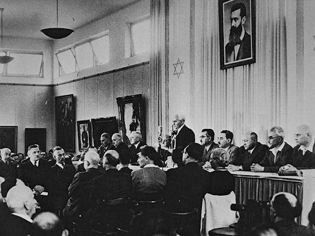 (Ben-Gurion verklaart onafhankelijkheid)