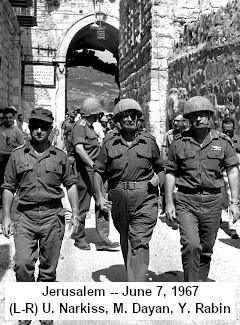 (Moshe Dayan in de Oude Stad 1967)